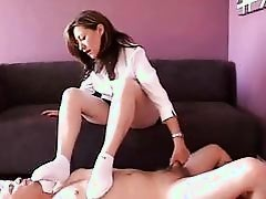 White socks footjob
