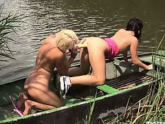 Teens Jeanine and Diana toy twats