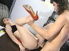 Tiffany mynx in red high heels vintage