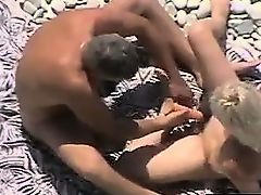 Horny Married Couple At The Beach