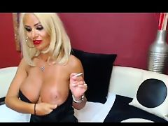 Blonde Milf Toys On Cam no sound