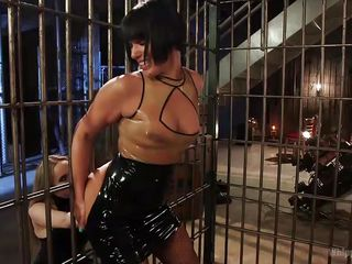caged whore goes wild with lust