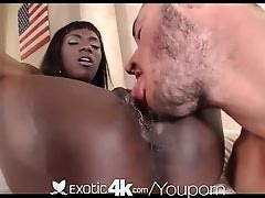 4K HD - Exotic4K Ana Foxxx gets a creampie in her drenched pussy