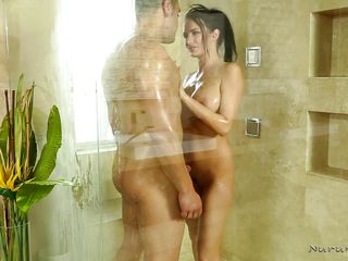 sexy nuru massage and ball sucking in the tub