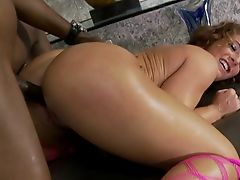Redhead Big Assed White Girl Loves Anal And Black Cock