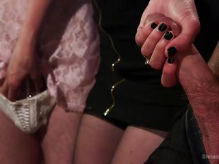 crossdressing whore boy is made to suck big cock