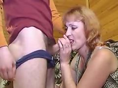 Redhead mature analized by a young cock