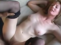 Hairy mature in all holes with huge facial