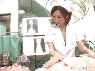 busty nurse entertains a horny patient