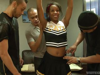 bitchy stacy undresses for horny gang @ black cheerleader gang bang #27