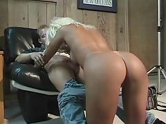 Blonde slut fucks cameraman after photoshoot