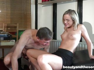 this old perv gets some young pussy