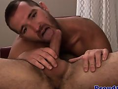 Dilf stud assfucked while jerking with muscle