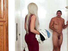 Stepmom Walks in on Son in Shower