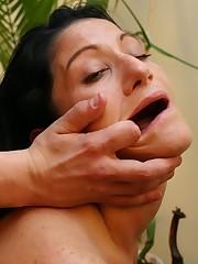 Wild, busty large-assed slut jammed on hard shaft