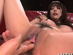 Oriental sweetheart widens her legs wide for wild drilling