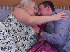 Old granny gets her last sex with young boy