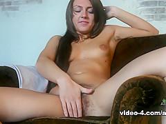 Crazy pornstar in Incredible Masturbation, Small Tits adult movie