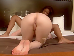 Best pornstars Lotus Lain and Nikki Peyton in crazy brazilian, masturbation porn clip
