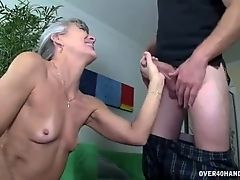 Horny granny's sex toy
