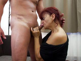 busty mature rides her man