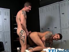 Tattooed hung hunks fuck