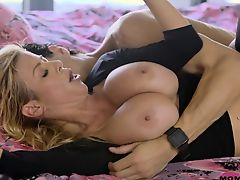 Hot Blonde Milf Fuck Son's Friend