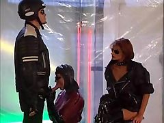Hardcore fetish action with bitches in latex sucking cock and getting fisted
