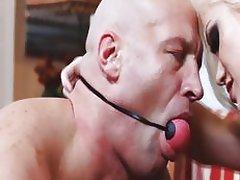 Dominatrix Ash Hollywood keeps her man under control