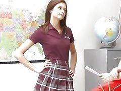 InnocentHigh Smalltits schoolgirl teen rides teachers c