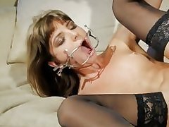 Kinky fuckdoll Doris Ivy is being dominated by a perver