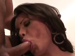 Sexy tranny nicoly marquez drilled