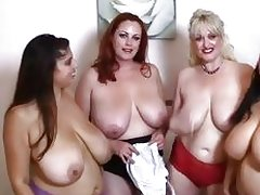 Hot brajama party with lesbians and huge tits