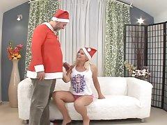 Santa Claus punishes nasty girl Kathy Sweet for her bad behaviour