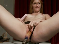 Redhead Banged Silly By Fucking Machine