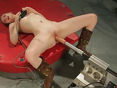 Excited Beautiful Girl Totally Fucked by Machine