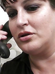 Busty BBW cutie rammed by boss