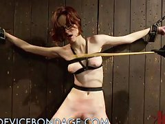 Kinky Chick Takes all the Torture