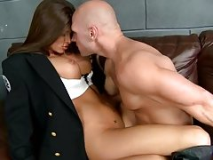 Fucking the Hottest Cop Ever Madelyn Marie in Police Station