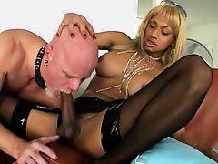 black shemale-white man slave